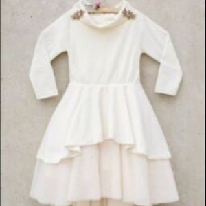 Joyfolie Mia Joy Girls Isoide Cream Dress